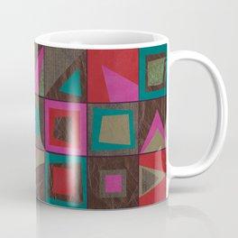 squares of colors and shreds Coffee Mug