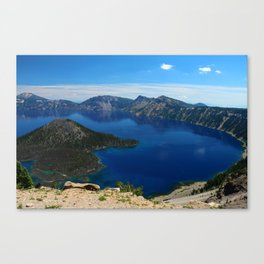 Wizard Island In The Lake Canvas Print