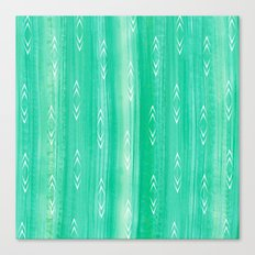tourmaline gem + arrows pattern Canvas Print
