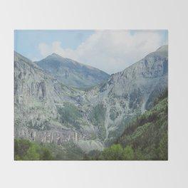 Telluride Mountains Throw Blanket