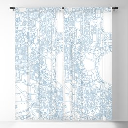 Street MAP Doha // Blue Blackout Curtain