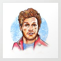 star lord Art Prints featuring Star Lord by Nicolaine