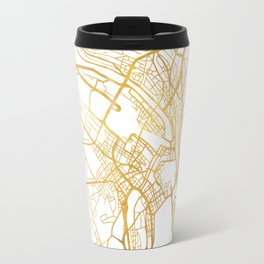 ZÜRICH SWITZERLAND CITY STREET MAP ART Travel Mug