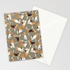 beagle scatter stone Stationery Cards