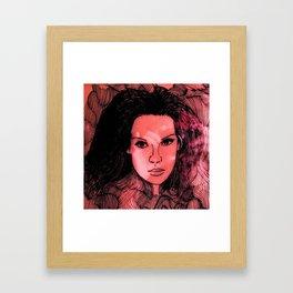 Face red Framed Art Print