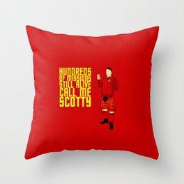 Kilted Scotty Still Lives Throw Pillow