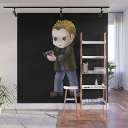 Chibi Dean Winchester (Black BG) Wall Mural