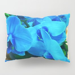 Exotic Turquoise Periwinkle Blue Orchids Pillow Sham