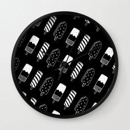 Summer Ice Lollies (Black) Wall Clock