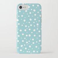 polkadot iPhone & iPod Cases featuring White Polkadot by Laura Maria Designs