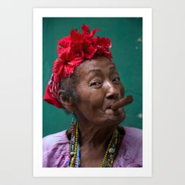 Portrait, Havana, Cuba Art Print