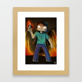 Herobrine Framed Art Print