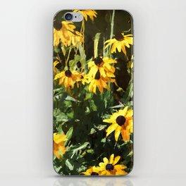Black-eyed Susan Yellow Flowers iPhone Skin