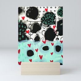 Falling Hearts Mini Art Print