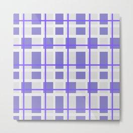 Retro Purple Plaid Pattern Metal Print