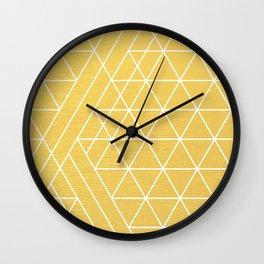 Golden Goddess Wall Clock