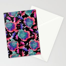 Abstract floral background 999 Stationery Cards