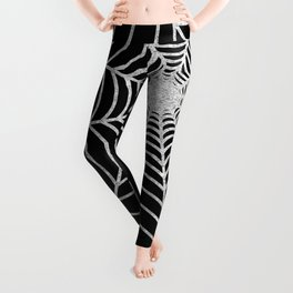 Spiderweb | Silver Glitter Leggings