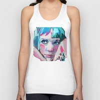 grimes Tank Tops featuring Grimes by Tiffany Baxter