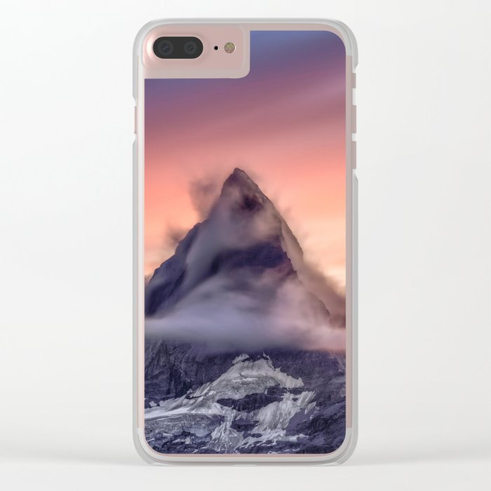 Mountains #fog #smoke Clear iPhone Case