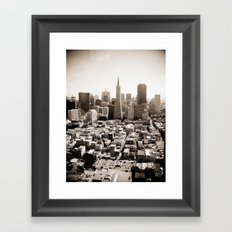 The View from Coit Framed Art Print