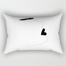 Watercolor brow Rectangular Pillow