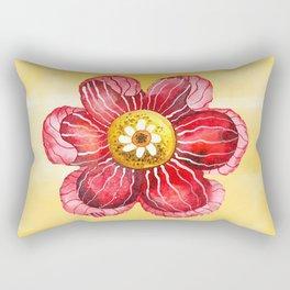Red Flower Rectangular Pillow