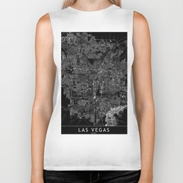 Las Vegas Black Map Biker Tank