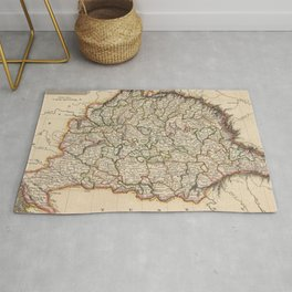 Vintage Map of Hungary (1817)  Rug