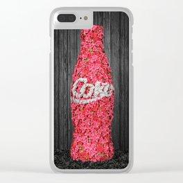 Flower Coke Clear iPhone Case