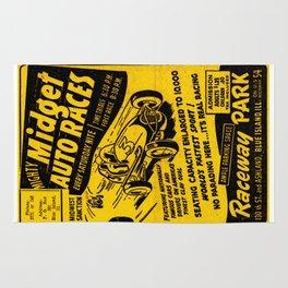 Midget Auto Races, Race poster, vintage poster Rug