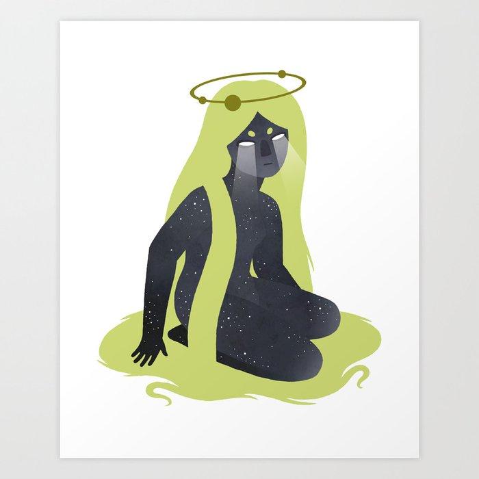 Space Girl 8 Art Print