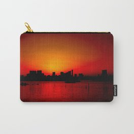Tokyo Skyline Sunset Carry-All Pouch