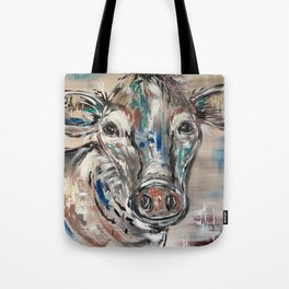 Rainbow Cow Tote Bag