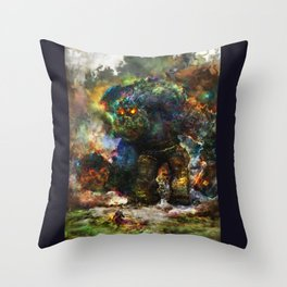 shadow of the witcher Throw Pillow