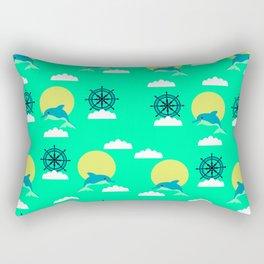 Dolphins play Rectangular Pillow