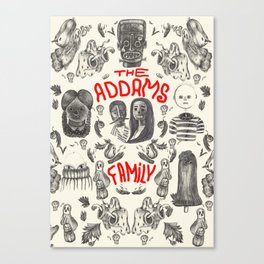 The Addams Family Canvas Print