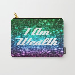 Wealth Affirmation Galaxy Sparkle Stars Carry-All Pouch