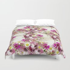 Worn Wood and Wild Flowers Duvet Cover