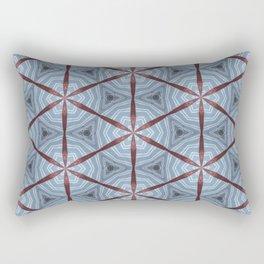 American Folk Red & Blue No. 08 Rectangular Pillow