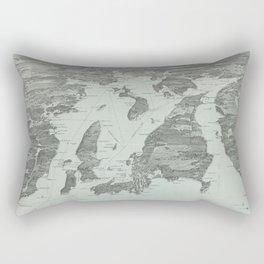 Vintage Pictorial Map of Narragansett Bay (1907) Rectangular Pillow