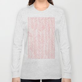 Living Coral Herringbone Long Sleeve T-shirt