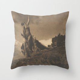 Soul of the Blasted Pine, Anne Brigman, 1908 Throw Pillow
