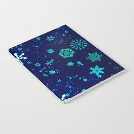 Blue Snowflakes Pattern Notebook