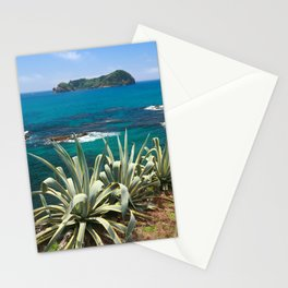 Islet and coastal vegetation Stationery Cards
