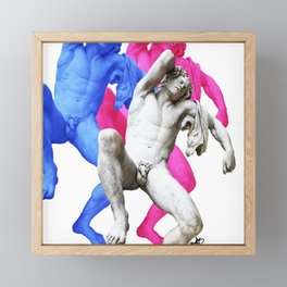 Barberini Faun Framed Mini Art Print