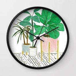 Apartment plants Wall Clock