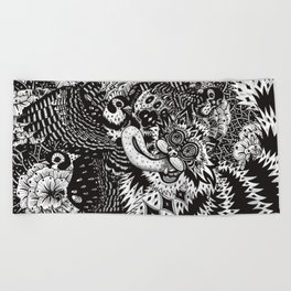 Domesticated (Afternoon in the Garden) Beach Towel