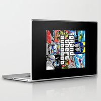 grand theft auto Laptop & iPad Skins featuring Grand Theft Autobot (GTA G1 Transformers) by Demonlinks