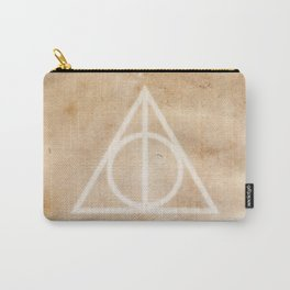 Deathly Hallows on Parchment Carry-All Pouch
